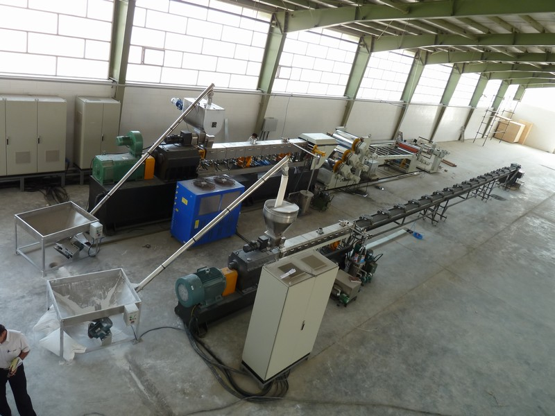 Air cooling strands pelletizing line-1.JPG